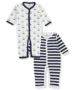 "Hudson Baby Baby Boys' ""Nautical Stripe"" 2-Pack Coveralls - CookiesKids.com"