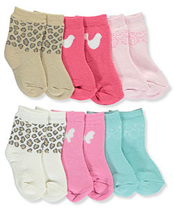 Luvable Friends Baby Girls' 6-Pack Socks - CookiesKids.com