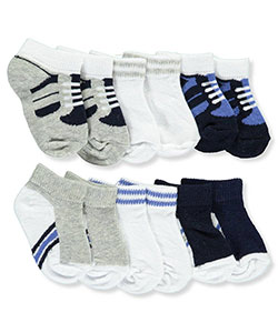 Luvable Friends Baby Boys' 6-Pack No-Show Socks - CookiesKids.com