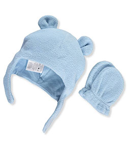 Luvable Friends Baby Boys' Beanie & Mittens Set - CookiesKids.com