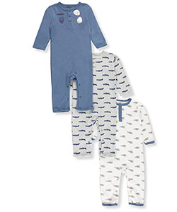 Hudson Baby Baby Boys' 3-Pack Coveralls - CookiesKids.com