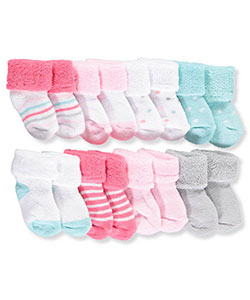 Luvable Friends Baby Girls' 8-Pack Socks - CookiesKids.com