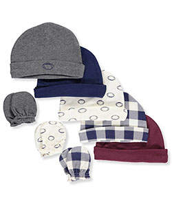 Hudson Baby Baby Boys' 8-Pack Caps & Mitts Set - CookiesKids.com
