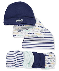 Hudson Baby Baby Boys' 7-Piece Caps & Mitts Set - CookiesKids.com