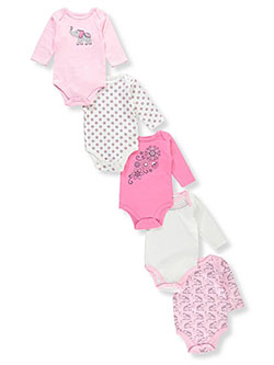 Hudson Baby Baby Girls' 5-Pack L/S Bodysuits - CookiesKids.com