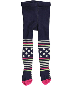 "Flapdoodles Baby Girls ""Stripes & Dots"" Tights - CookiesKids.com"