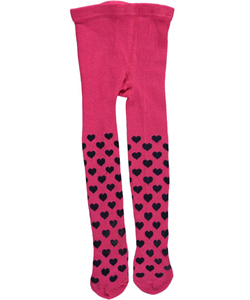 "Flapdoodles Baby Girls' ""Solid Hearts"" Tights - CookiesKids.com"