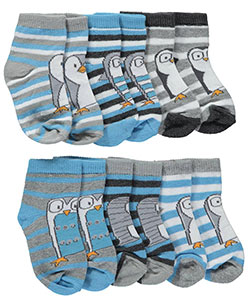 "Vitamins Baby Baby Boys' ""Penguin Emotions"" 6-Pack Crew Socks - CookiesKids.com"