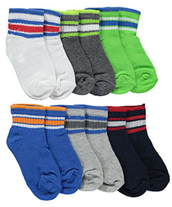 "Vitamins Baby Baby Boys' ""Sporty Multi-Stripe"" 6-Pack Crew Socks - CookiesKids.com"