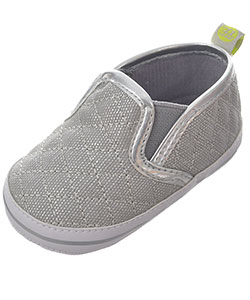 "First Steps by Stepping Stones Baby Girls' ""Quilted Metallic"" Slip-On Booties - CookiesKids.com"