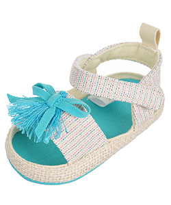 "First Steps by Stepping Stones Baby Girls' ""Tassel Bow"" Sandal Booties - CookiesKids.com"