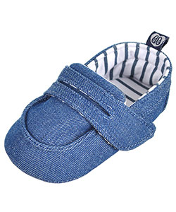 "Stepping Stones Baby Boys' ""Denim Penny Loafer"" Booties - CookiesKids.com"