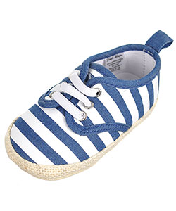 "First Steps by Stepping Stones Baby Boys' ""Woven Stripes"" Sneaker Booties - CookiesKids.com"