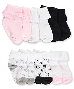 Laura Ashley Baby Girls' 6-Pack Socks - CookiesKids.com