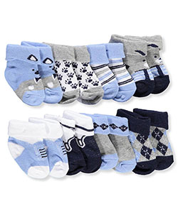 Stepping Stones Baby Boys' 8-Pack Foldover Socks - CookiesKids.com