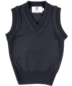 Blueberry Knitting V-Neck Unisex Sweater Vest (Sizes 4 - 7) - CookiesKids.com