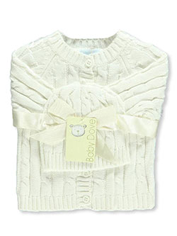 Baby Dove Baby Unisex Cable Knit Cardigan & Beanie Set - CookiesKids.com