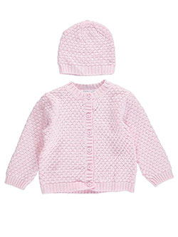 Baby Dove Baby Unisex Lattice Knit Cardigan & Beanie Set - CookiesKids.com