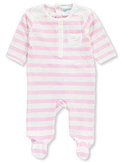 "Baby Dove Baby Girls' ""Triple Stripe"" Footed Coverall - CookiesKids.com"