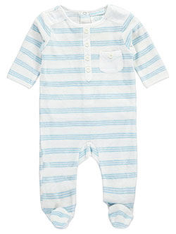 "Baby Dove Baby Boys' ""Triple Stripe"" Footed Coverall - CookiesKids.com"