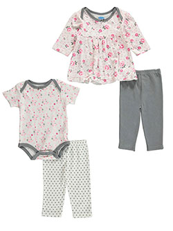 "Bon Bebe Baby Girls' ""Floral Wonder"" 4-Piece Layette Set - CookiesKids.com"