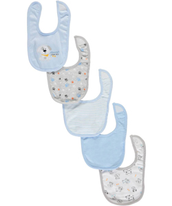 "Bon Bebe ""Mommy's Little Guy"" 5-Pack Bibs - CookiesKids.com"