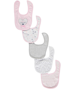 "Bon Bebe ""Mommy's Sweetheart"" 5-Pack Bibs - CookiesKids.com"