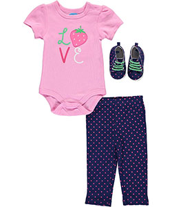 "Bon Bebe Baby Girls' ""Berry Beauty"" 3-Piece Outfit - CookiesKids.com"
