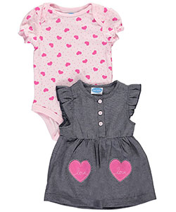 "Bon Bebe Baby Girls' ""Double Hearts"" 2-Piece Outfit - CookiesKids.com"