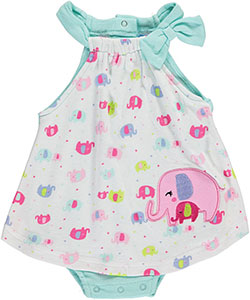 "Bon Bebe Baby Girls' ""Sweet Circus"" Dress/Bodysuit - CookiesKids.com"