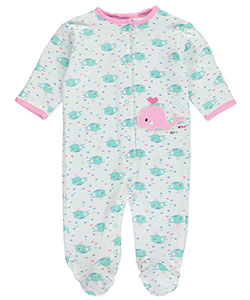 "Bon Bebe Baby Girls' ""Whale Trip"" Footed Coverall - CookiesKids.com"