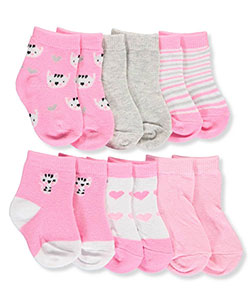 "Rene Rofe Baby Girls' ""Cute Kitty"" 6-Pack Socks - CookiesKids.com"