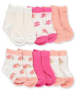 "Rene Rofe Baby Girls' ""Flower Bloom"" 6-Pack Socks - CookiesKids.com"
