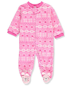 Rene Rofe Baby Girls' Microfleece Footed Coverall - CookiesKids.com