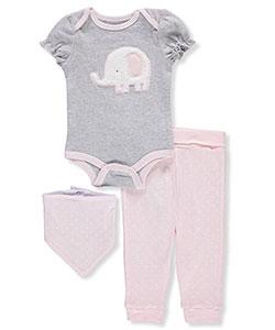 Rene Rofe Baby Girls' 3-Piece Layette Set - CookiesKids.com