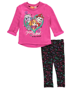"Paw Patrol Baby Girls' ""Heart Rescue"" 2-Piece Outfit - CookiesKids.com"
