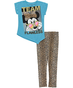"Minnie Mouse Little Girls' Toddler ""Team Flawless"" 2-Piece Outfit (Sizes 2T – 4T) - CookiesKids.com"