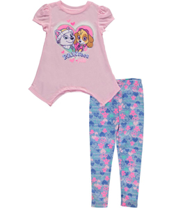 "Paw Patrol Little Girls' Toddler ""Pawfect Pals"" 2-Piece Outfit (Sizes 2T – 4T) - CookiesKids.com"