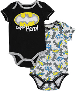 "Batman Baby Boys' ""Caped Hero"" 2-Pack Bodysuits - CookiesKids.com"