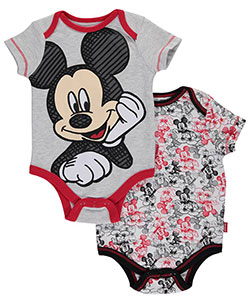"Mickey Mouse Baby Boys' ""Work in Progress"" 2-Pack Bodysuits - CookiesKids.com"
