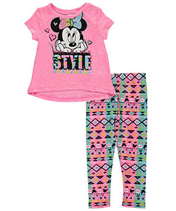 "Minnie Mouse Little Girls' Toddler ""Unlimited Style"" 2-Piece Outfit (Sizes 2T – 4T) - CookiesKids.com"