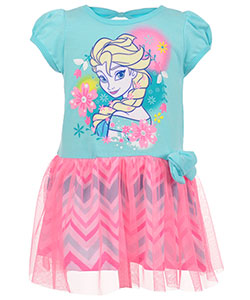 "Disney Frozen Little Girls' Toddler ""Chevron Tulle"" Dress (Sizes 2T – 4T) - CookiesKids.com"