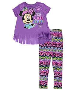 "Minnie Mouse Little Girls' Toddler ""What Cute Looks Like"" 2-Piece Outfit (Sizes 2T – 4T) - CookiesKids.com"