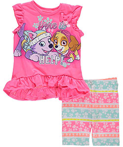"Paw Patrol Little Girls' Toddler ""Here to Help!"" 2-Piece Outfit (Sizes 2T – 4T) - CookiesKids.com"