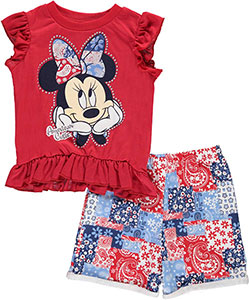"Minnie Mouse Little Girls' Toddler ""American Cutie"" 2-Piece Outfit (Sizes 2T – 4T) - CookiesKids.com"