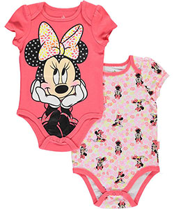 "Minnie Mouse Baby Girls' ""Fashion Pose"" 2-Pack Bodysuits - CookiesKids.com"