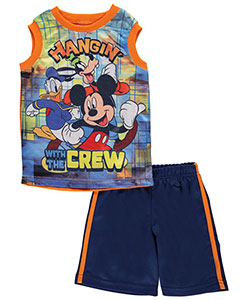 "Mickey Mouse Little Boys' Toddler ""Hangin' with the Crew"" 2-Piece Outfit (Sizes 2T – 4T) - CookiesKids.com"