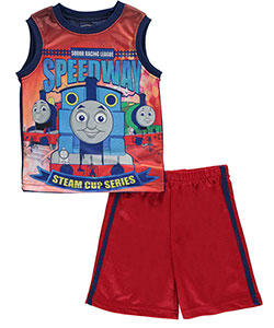 "Thomas & Friends Little Boys' ""Sodor Speedway"" 2-Piece Outfit (Sizes 4 – 7) - CookiesKids.com"