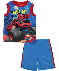 "Blaze and the Monster Machines Little Boys' ""Speed!"" 2-Piece Outfit (Sizes 4 – 7) - CookiesKids.com"