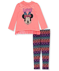 "Minnie Mouse Little Girls' Toddler ""Love Tribe"" 2-Piece Outfit (Sizes 2T – 4T) - CookiesKids.com"